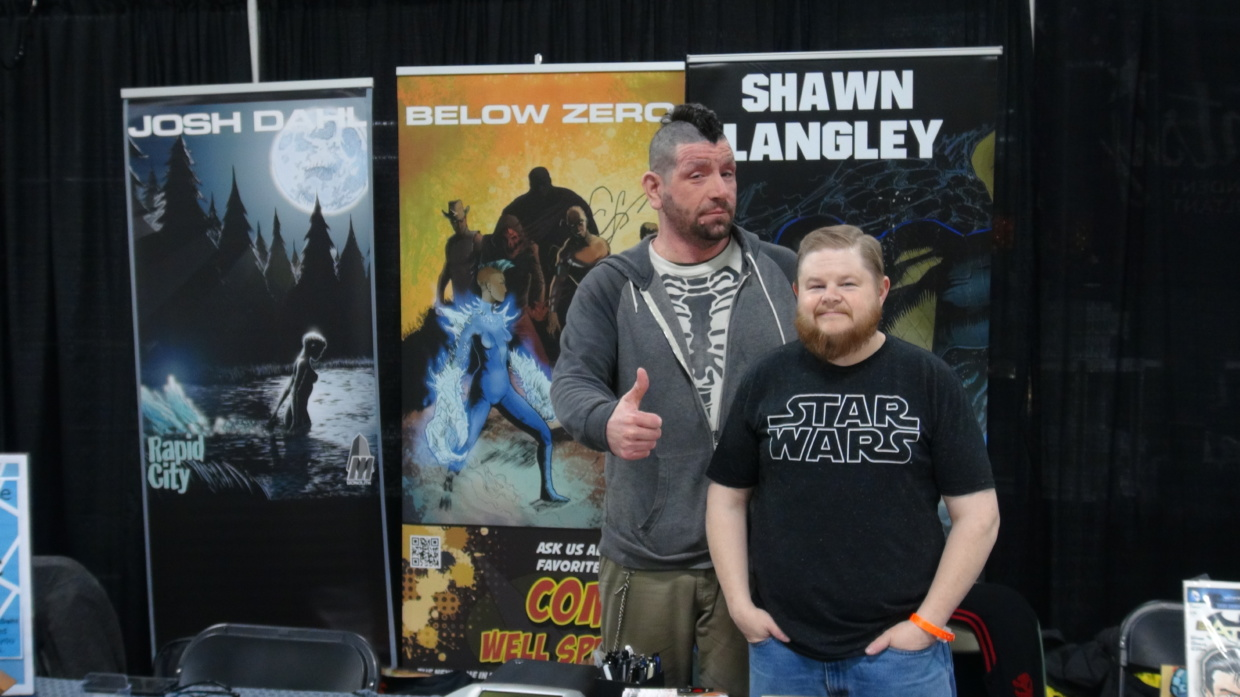 Josh Dahl and Shawn Langley of Rapid City Comic fame.